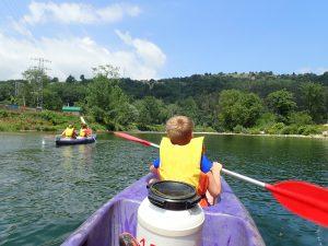 Descenso del Sella en canoa con niños