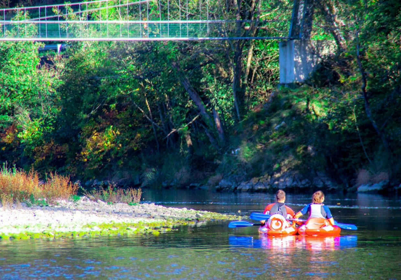 Canoas por el río Sella