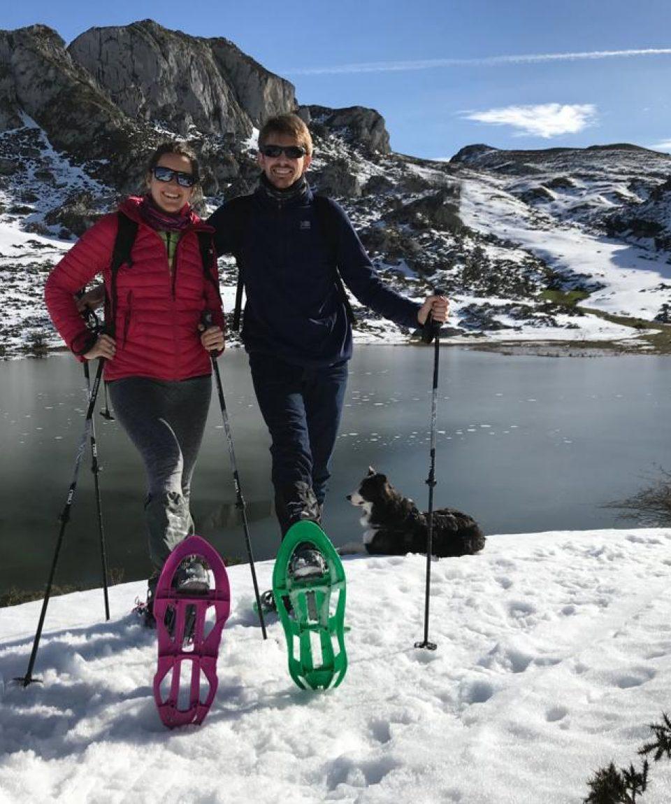 raquetas de nieve lagos de covadonga