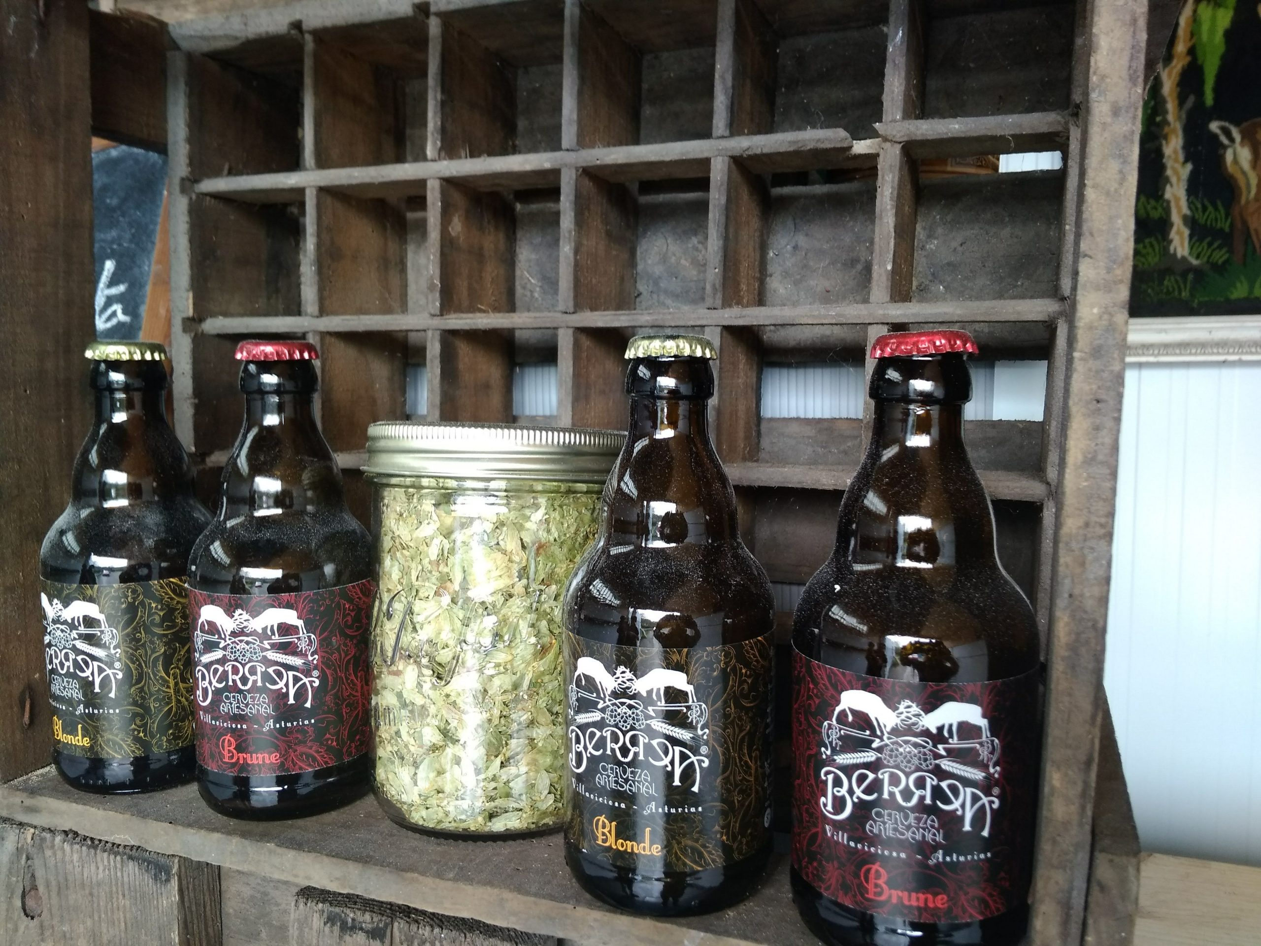 Visita a la fabrica de cerveza artesanal Berrea, en Asturias.
